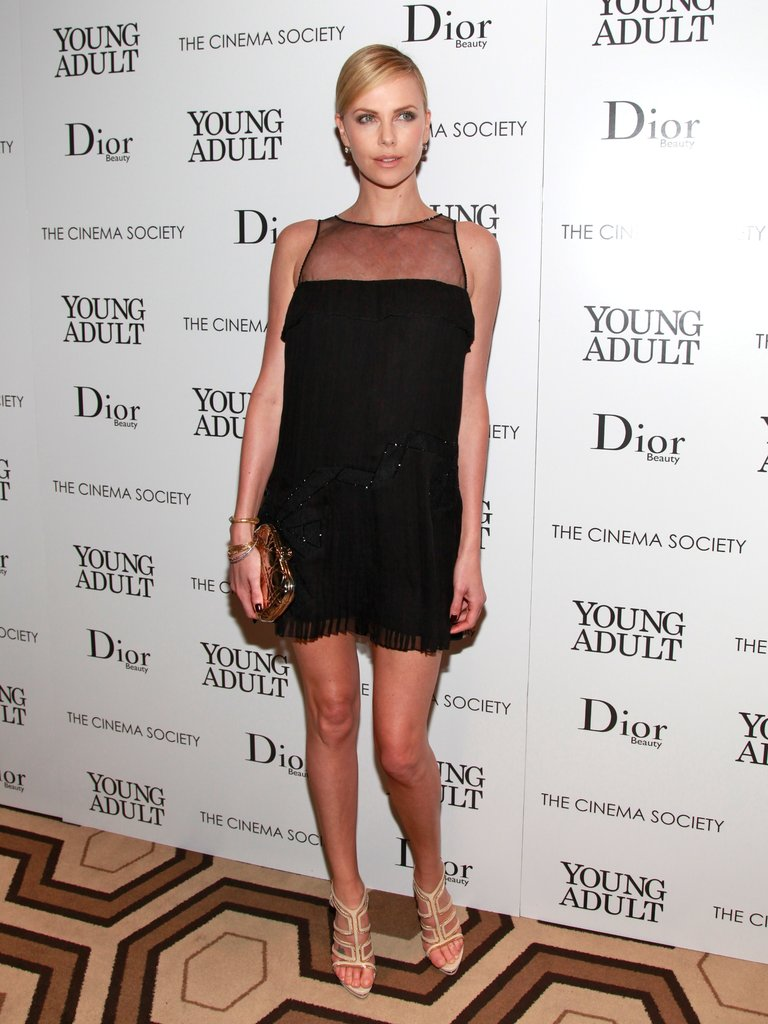 Dressed in head-to-toe Christian Dior, Charlize looked ultrachic at a special screening of Young Adult in November 2011.