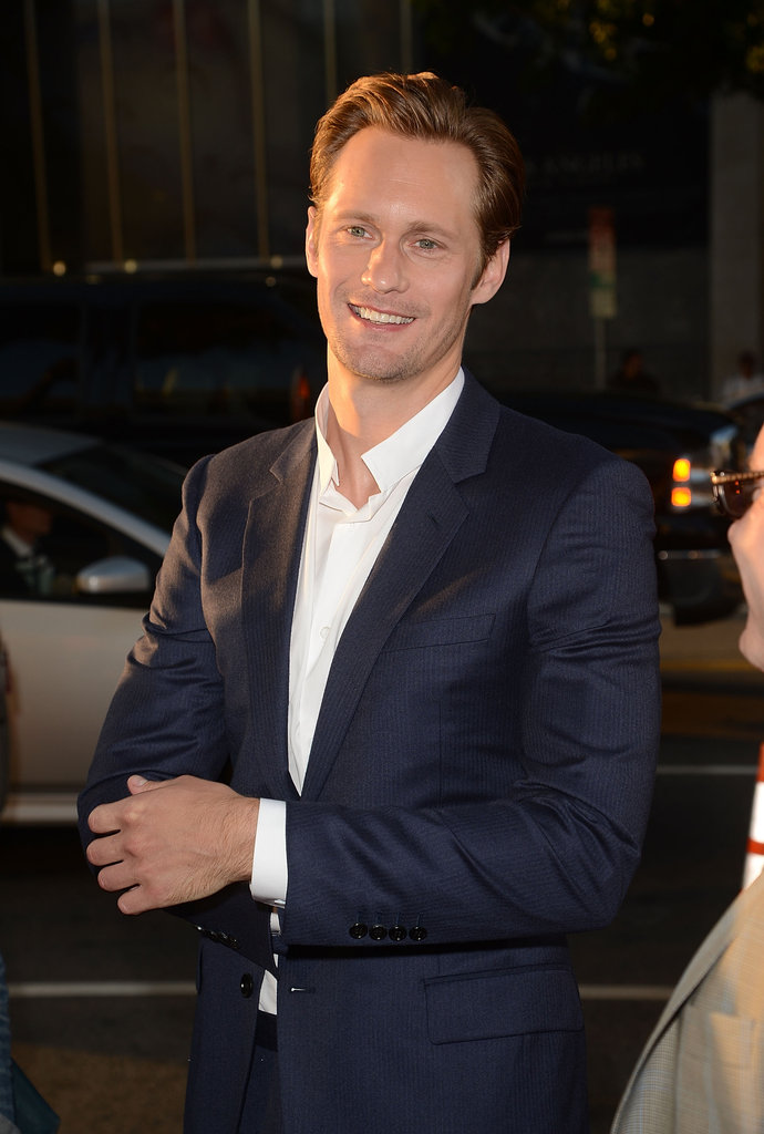 Alexander Skarsgard was all smiles as he turned out for the event.