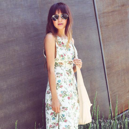 25 of the Best Street Style Snaps: High Summer Style Featuring Florals, Denim Cut-Offs, Neon Heels, White Blazer + More!
