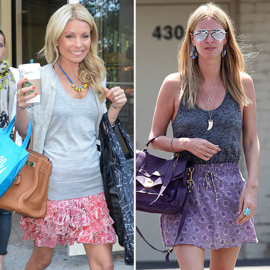 Nicky Hilton Purple Printed Skirt