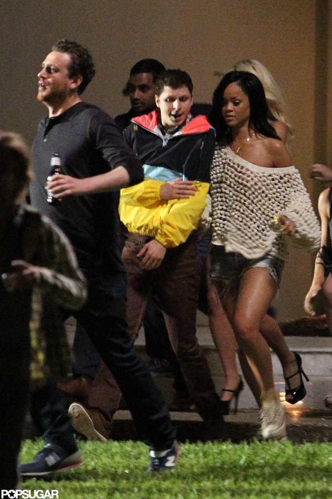 Rihanna, Michael Cera, and Jason Segel partied on the set of The End of the World in New Orleans.