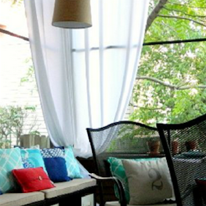 A Summer-Inspired Screen Porch Makeover