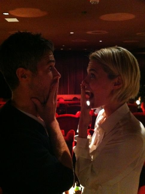 Dave Annable and Rachael Taylor were excited to be at a screening of their new show 666 Park Avenue. Source: Twitter user _Rachael_Taylor