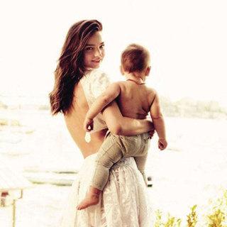 Miranda Kerr Holds Baby Flynn In Her First Shoot For Vogue UK