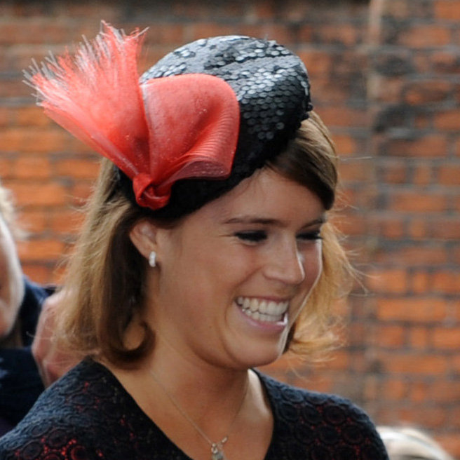 16. Princess Eugenie's Coral and Sequined Fascinator
