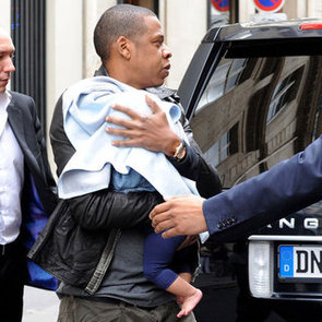 Blue Carter Pictures in Paris With Jay-Z And Beyonce Knowles