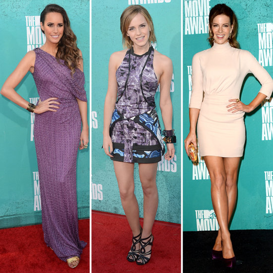 Emma Watson, Kate Beckinsale, Louise Roe at MTV Movie Awards