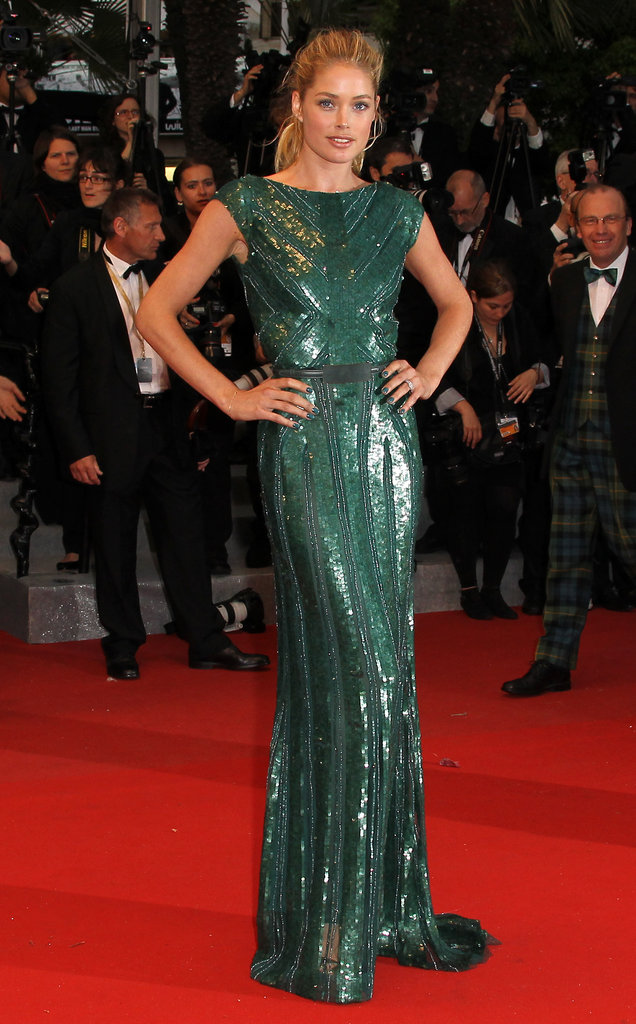 Doutzen Kroes wore Fall 2012 Elie Saab at the 2012 Cannes Film Festival.