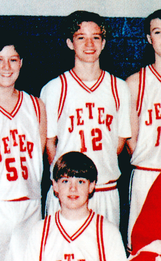 Justin Timberlake, center, was on the basketball team.