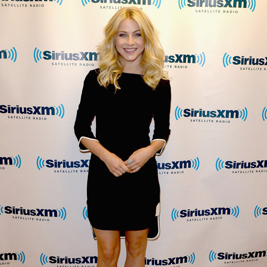 Julianne Hough Black Long-Sleeved Dress
