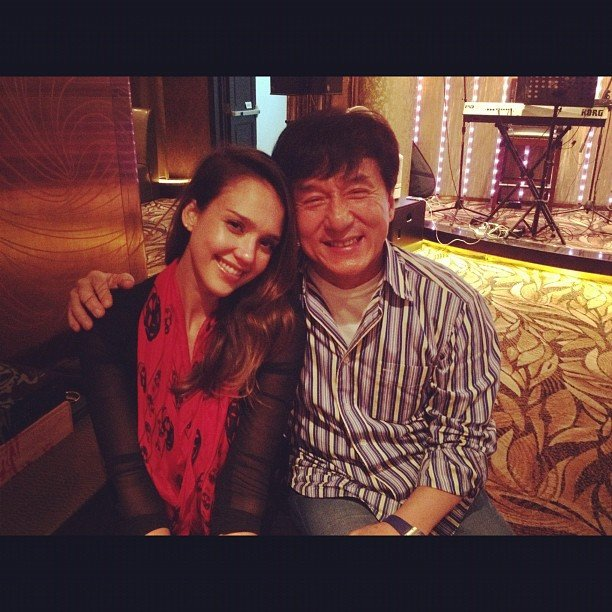 Jessica Alba met Jackie Chan during a trip to China. Source: Instagram user iamjessicaalba