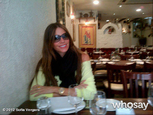 Sofia Vergara ate lunch at her favorite restaurant during a trip to London. Source: WhoSay user Sofia Vergara