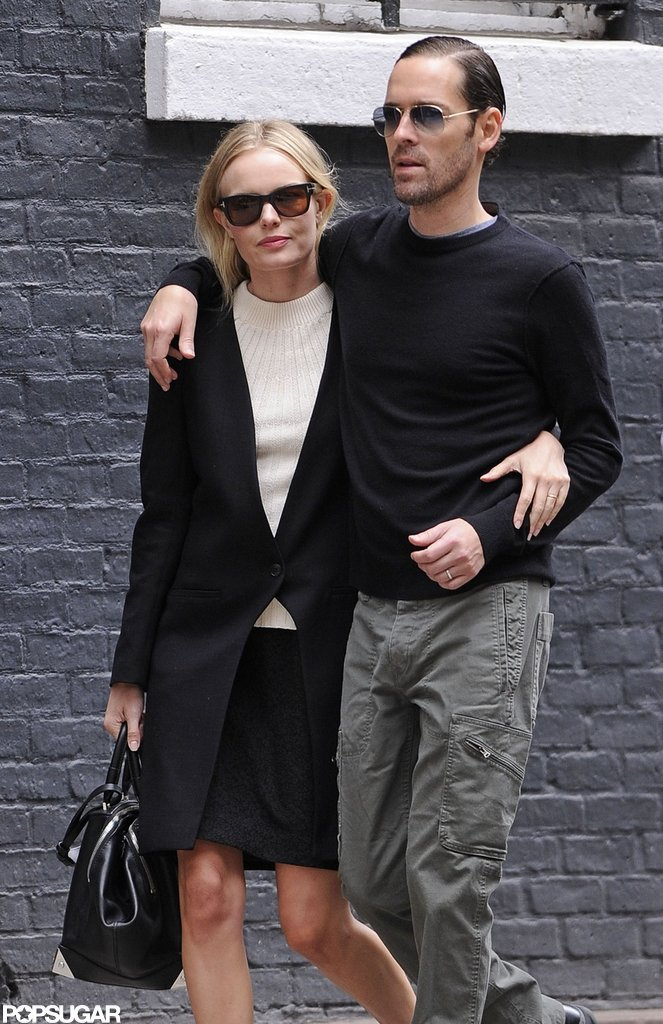 Kate Bosworth and boyfriend Michael Polish were arm in arm strolling through the West Village in NYC.