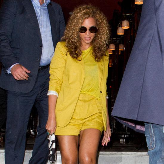 Beyoncé Yellow Blazer Yellow Shorts