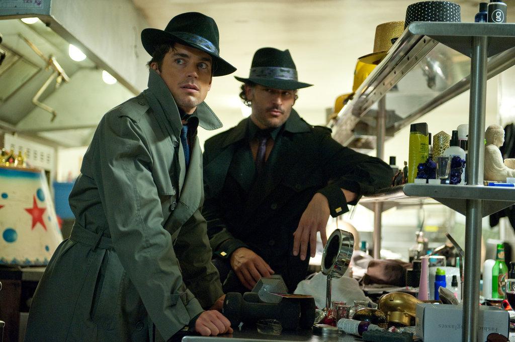 Matt Bomer and Joe Manganiello in Magic Mike.