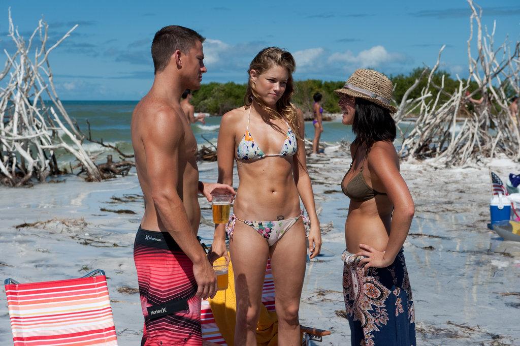 Channing Tatum, Cody Horn and Olivia Munn in Magic Mike.