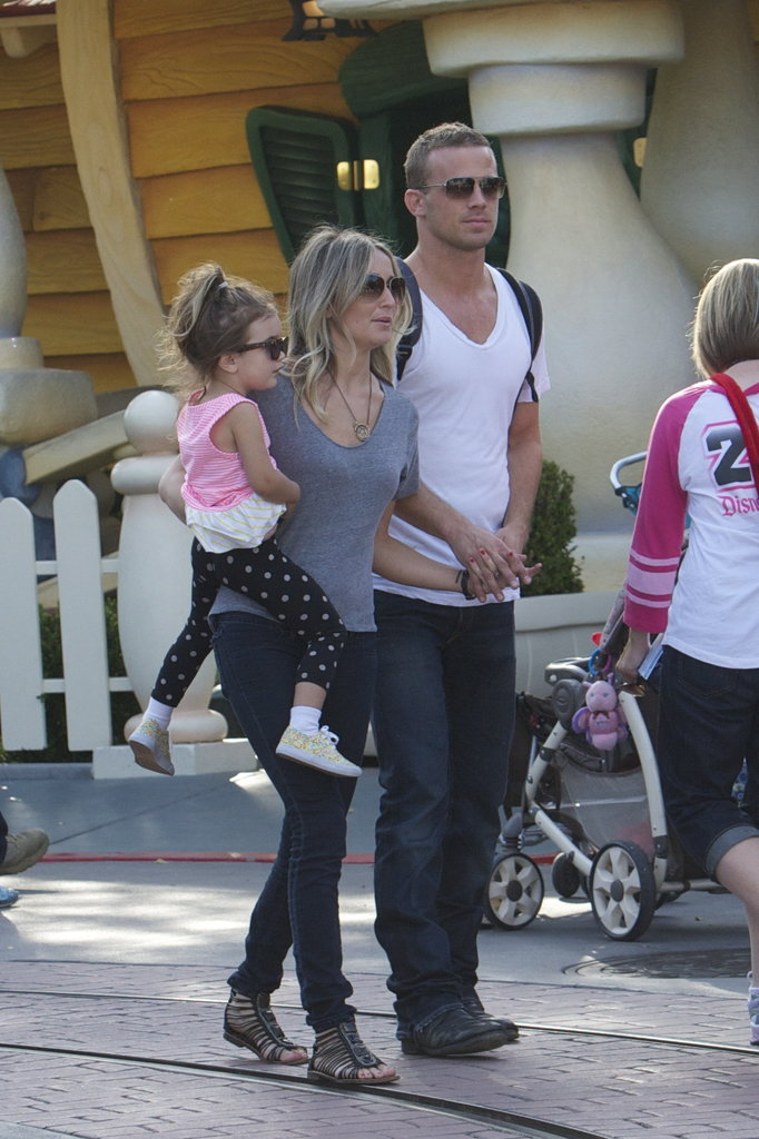 Cam Gigandet and Dominique Geisendorff spent the day at Disneyland with their daughter, Everleigh, in April 2012.