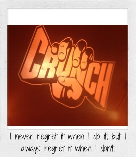 I never regret it when I do it, but I always regret it when I don't.
