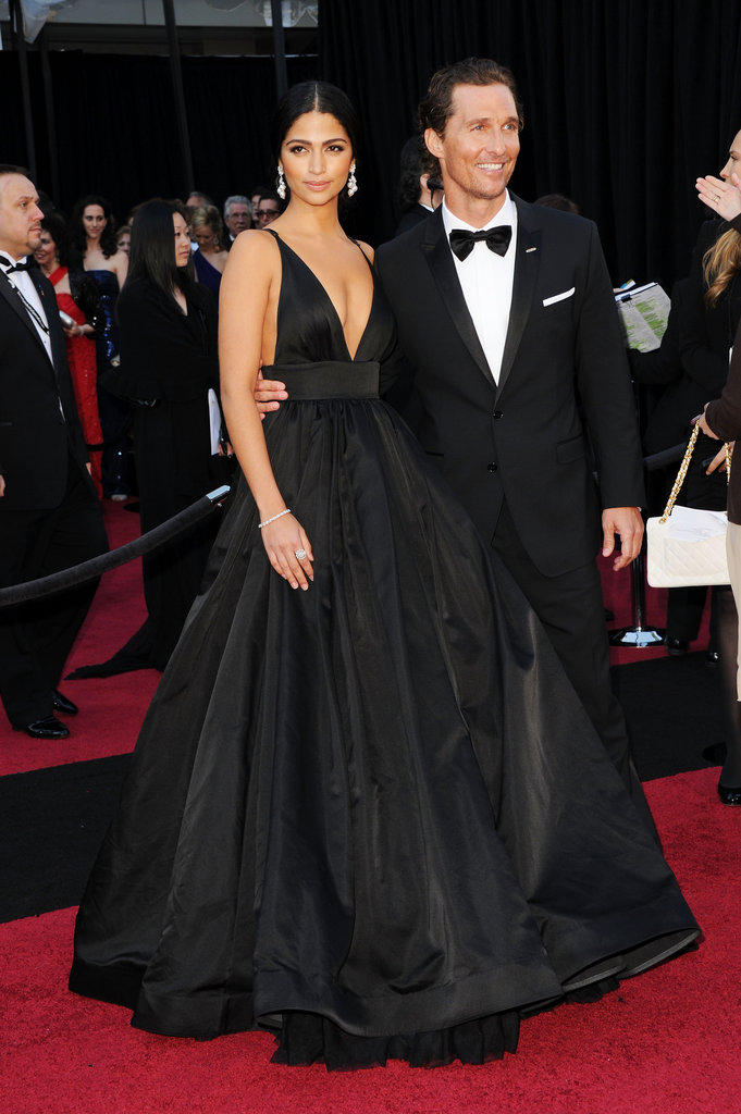 Matthew and Camila posed at the February 2011 Academy Awards in LA.