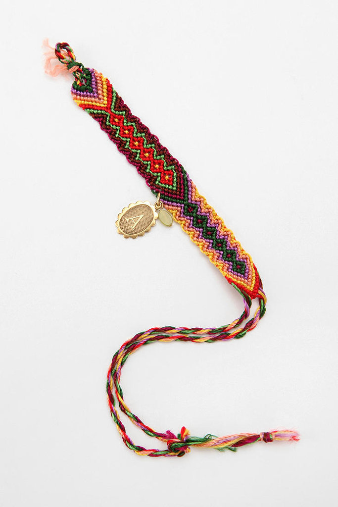 Urban Outfitters Initial Coin Friendship Bracelet ($10)
