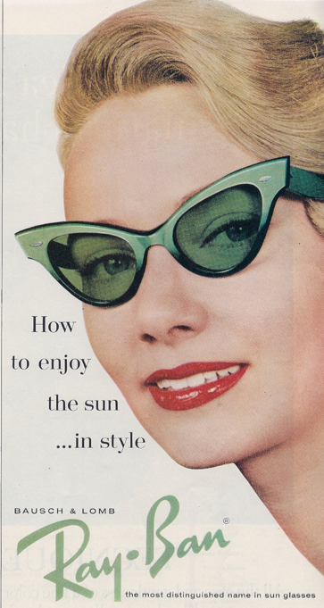 Cat-eye sunnies are a classic.