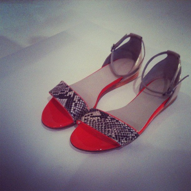 Witchery snakeskin and leather flats from the S/S 2012-13 showing. Just perfect.