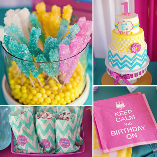 Emily's Bold, Candy-Colored First Birthday Party