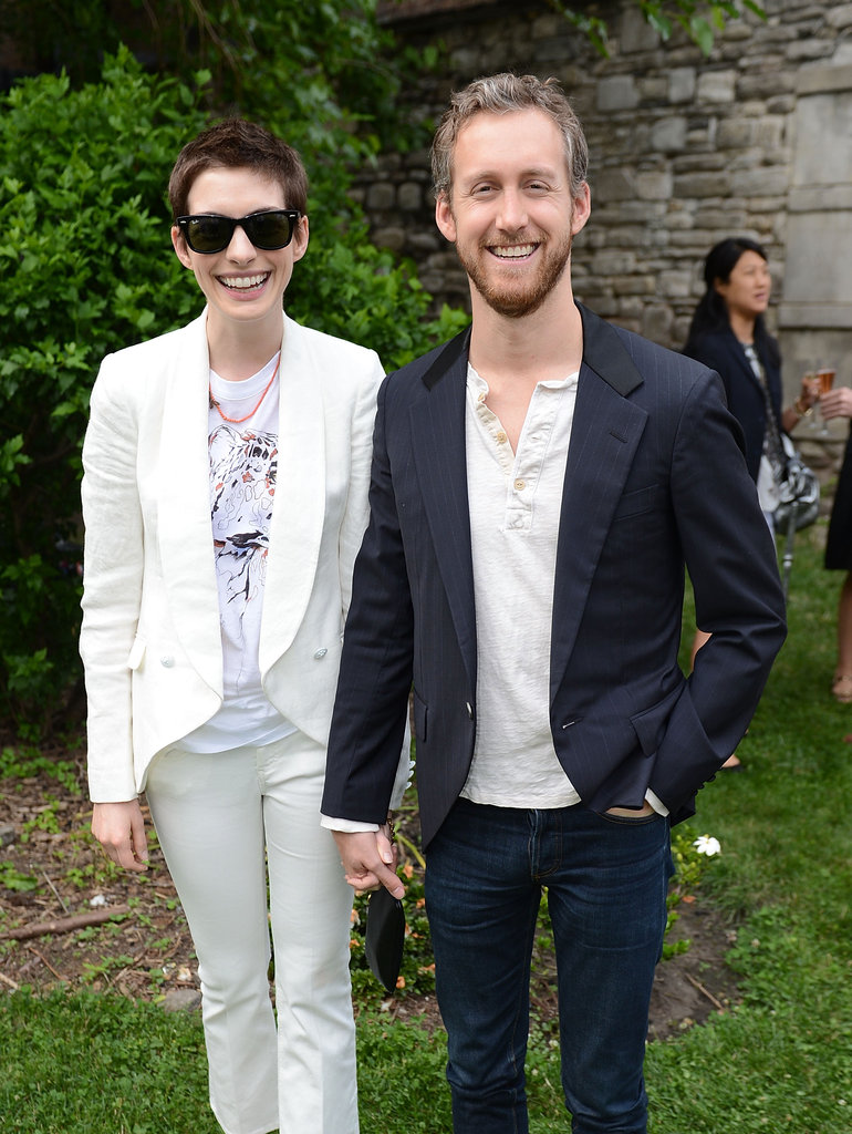 Anne Hathaway and Adam Shulman attended the Stella McCartney S/S '13 presentation on June 11.