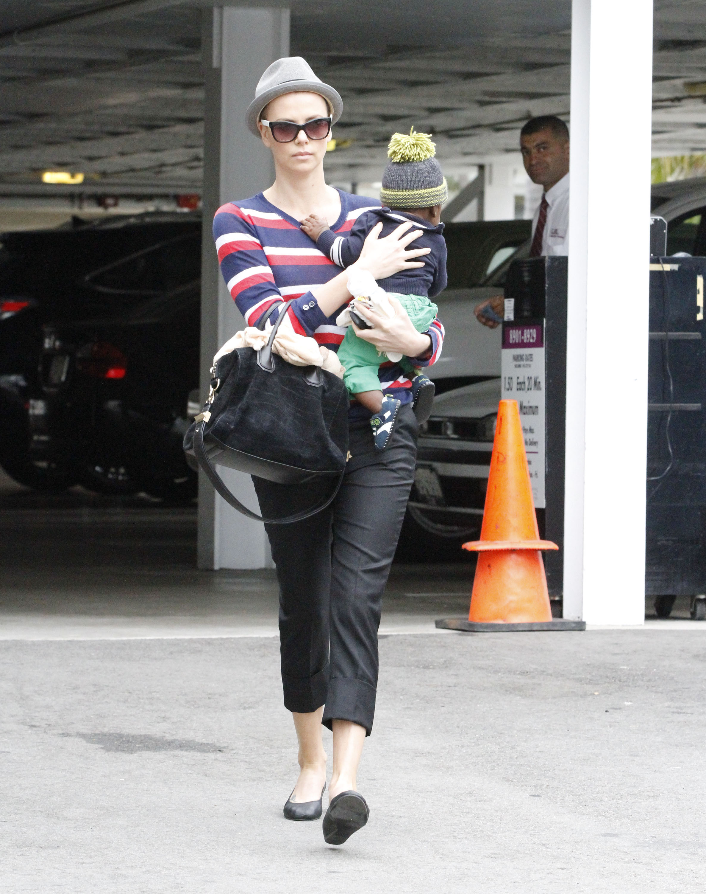 Charlize Theron and Jackson spent the day in Beverly Hills.