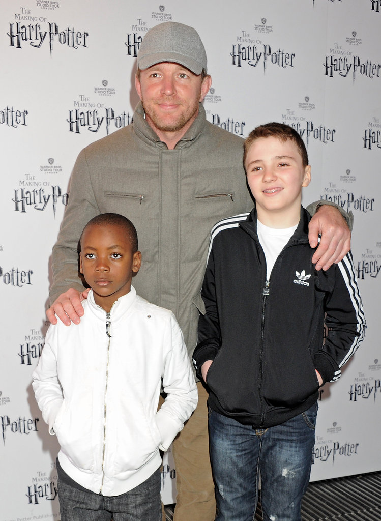 Guy Ritchie took his boys Rocco Ritchie and David Ritchie on a studio tour in England in March 2012.