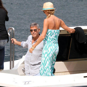 George Clooney and Stacy Keibler in Lake Como Pictures