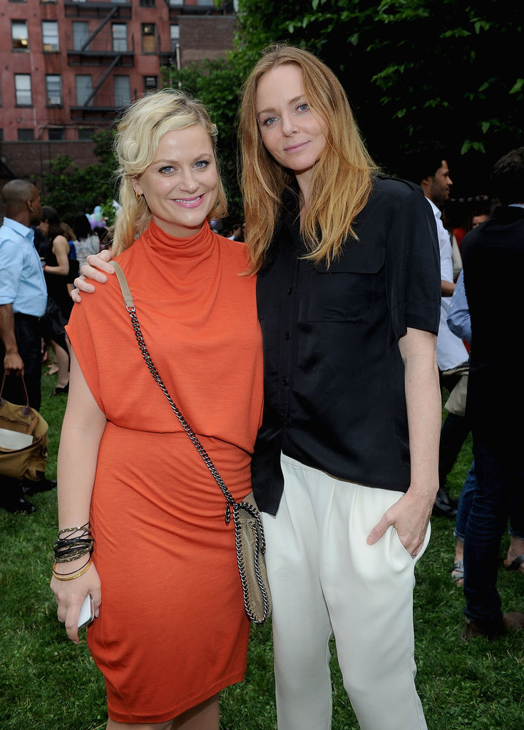 Amy Poehler posed with Stella McCartney at her Spring presentation in NYC.
