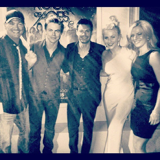 Julianne Hough posed with her family (and her boyfriend, Ryan Seacrest) at the Rock of Ages premiere. Source: Instagram user juleshough