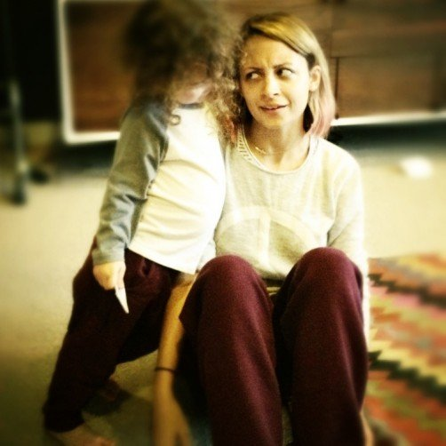 Nicole Richie accused her son, Sparrow, of copying her outfit. Source: Twitter user nicolerichie
