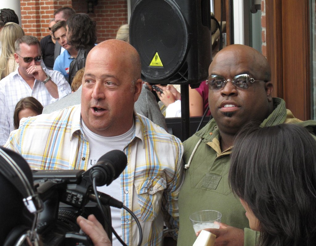 Andrew Zimmern and Cee Lo Green