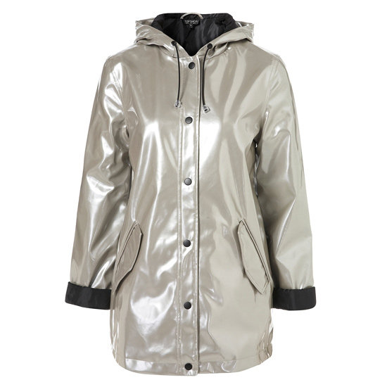 Raincoat, approx $75 at Topshop.