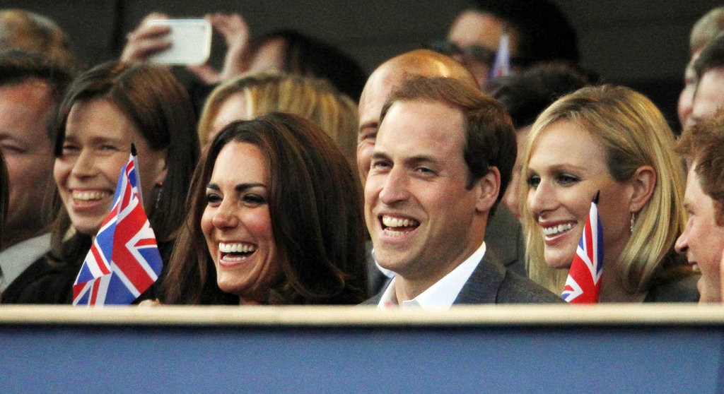 Prince William and Kate Middleton laughed and waved British flags  during the Diamond Jubilee concert in June of 2012.