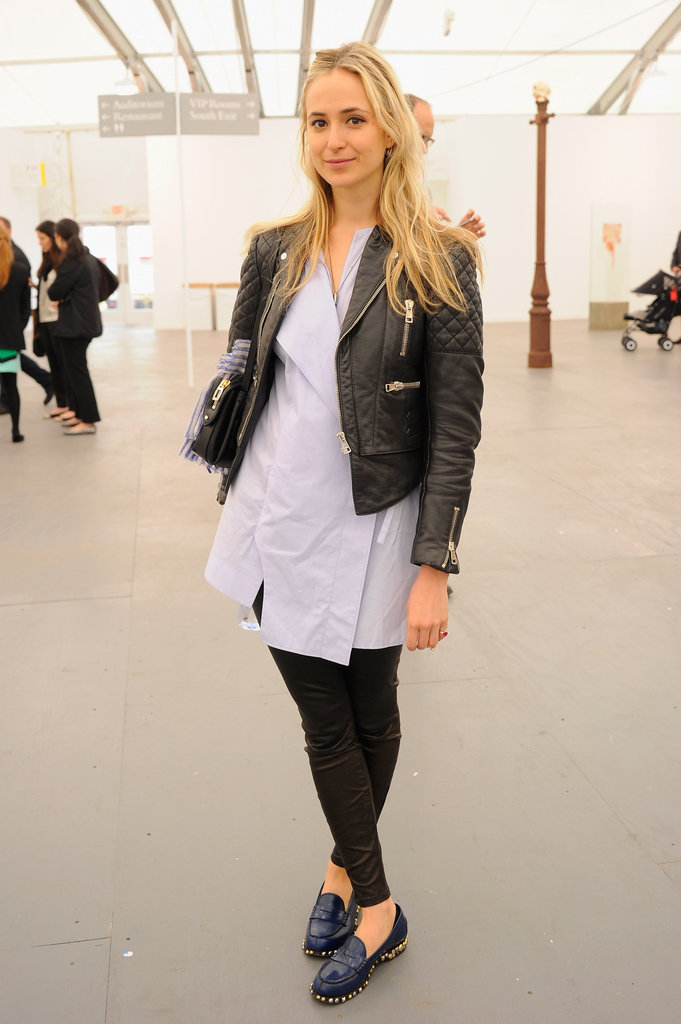 The princess played it preppy and cool in a leather jacket and loafers at an NYC event in May 2012.