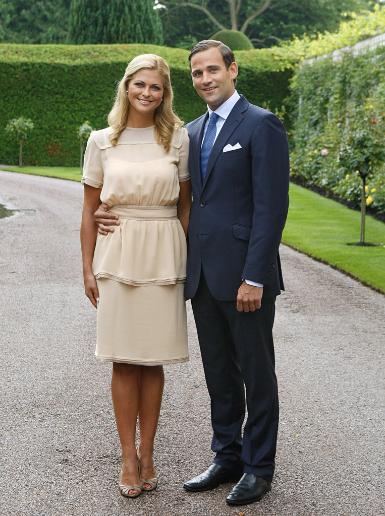 Princess Madeleine showed off a creamy ensemble. We love that her girlie style came through in a subtle way via a soft peplum hemline on her top.