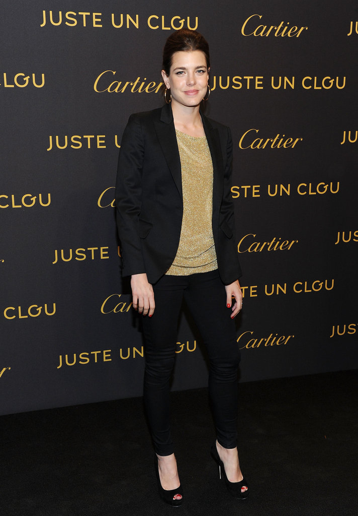 Charlotte attended a Cartier event in April 2012 in NYC and suited up smartly for the occasion.