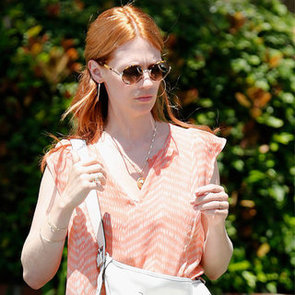 Photo of January Jones With Red Hair and Extensions
