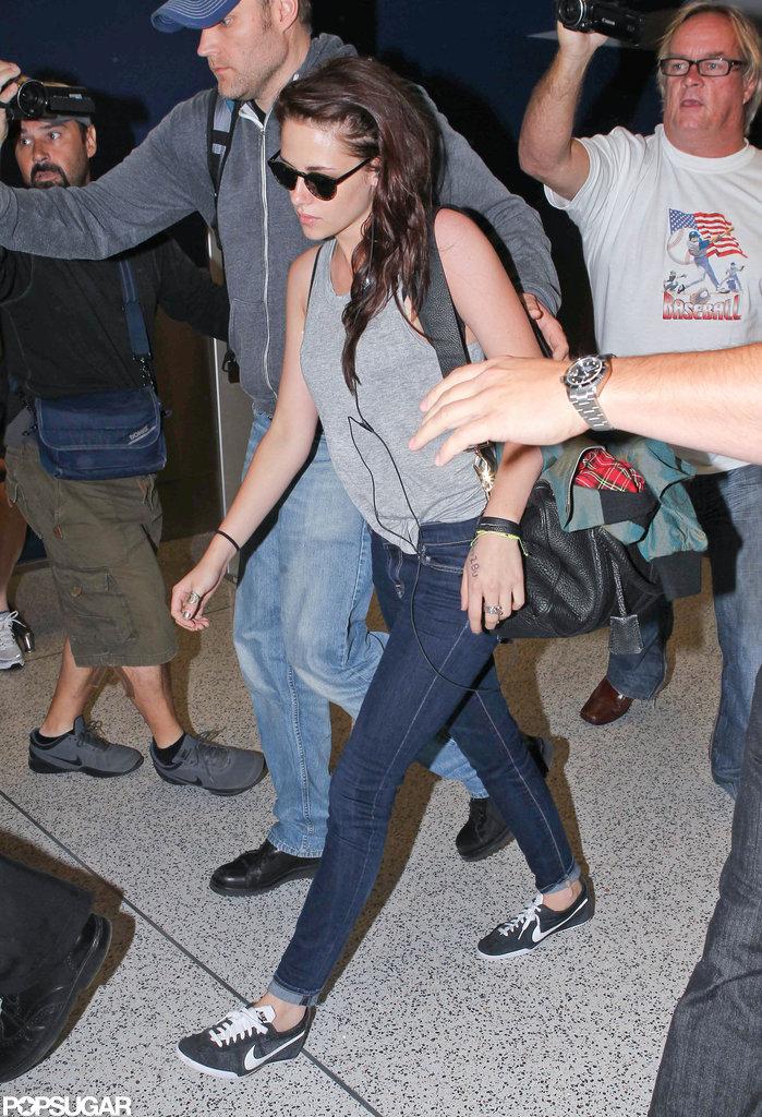 Kristen Stewart Takes Off From Down Under