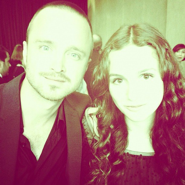Maude Apatow snapped a photo with Aaron Paul. Source: Instagram user maude_apatow