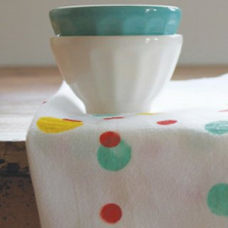DIY Polka Dot Tea Towel