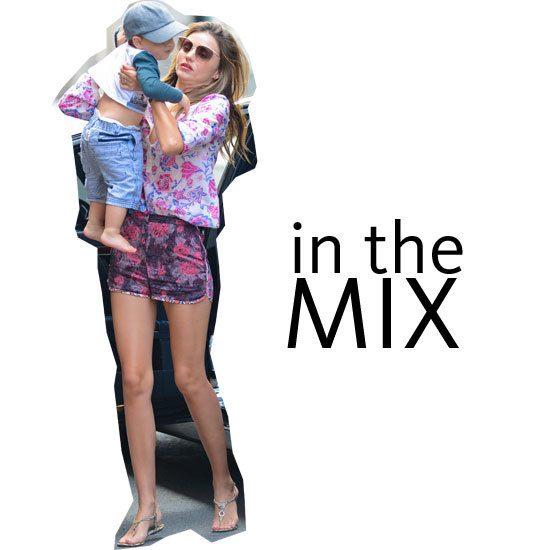 Miranda Kerr Wears Print on Print Off-Duty in NYC with Flynn Bloom: See How See Mixes It Like a Pro