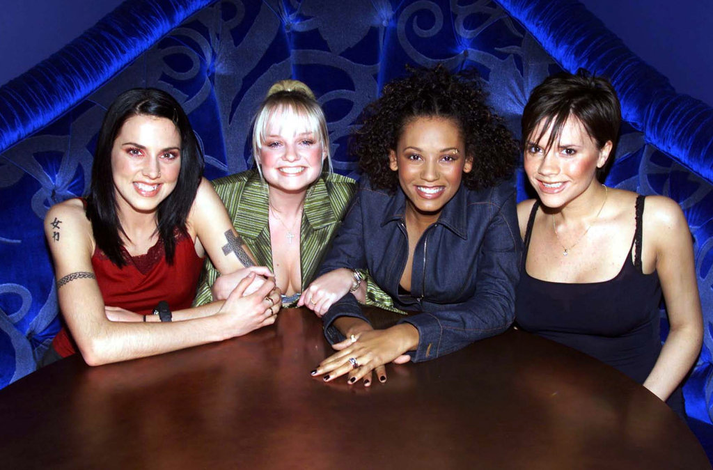 The ladies were all smiles for a January 1996 press day in London.
