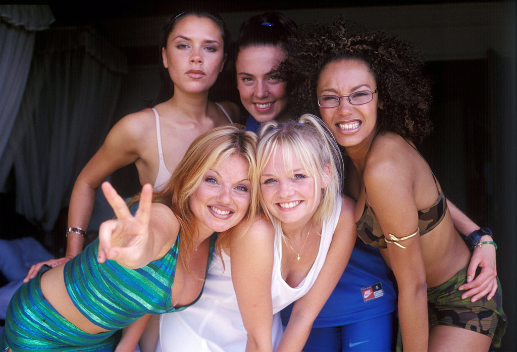 The group posed for a promotional photo during an April 1997 trip to Bali.