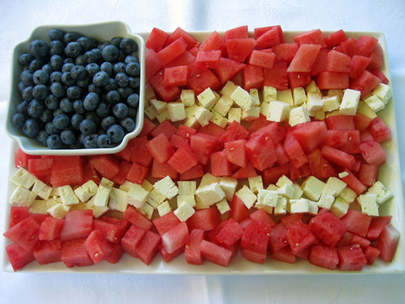 Make This: Watermelon and Feta Flag
