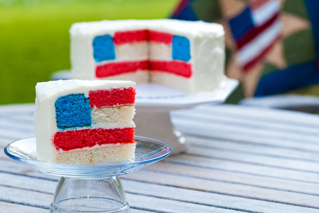 Recipes: Flag Cake