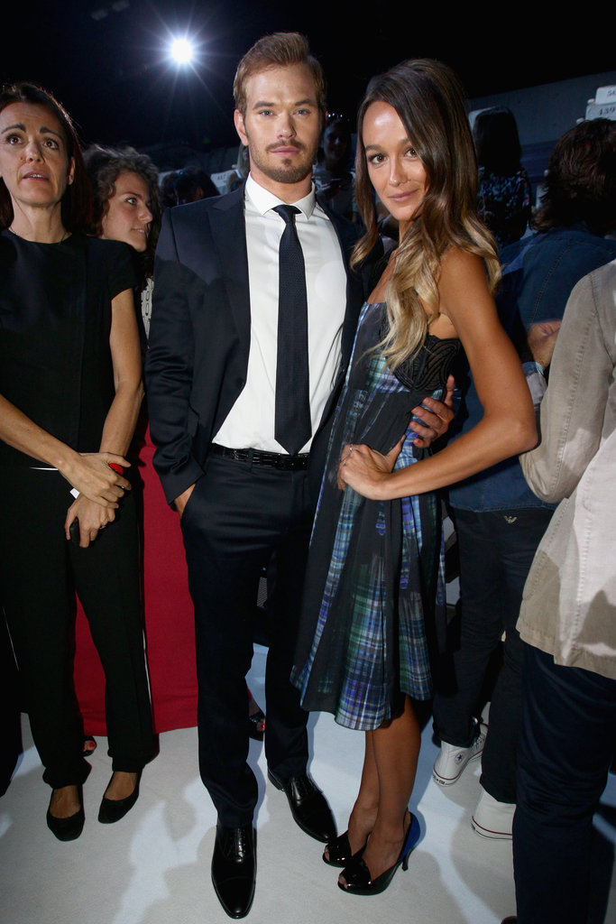 Kellan and Sharni at Emporio Armani on June 25.